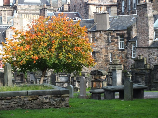 Edinburgh Graveyard in Autum